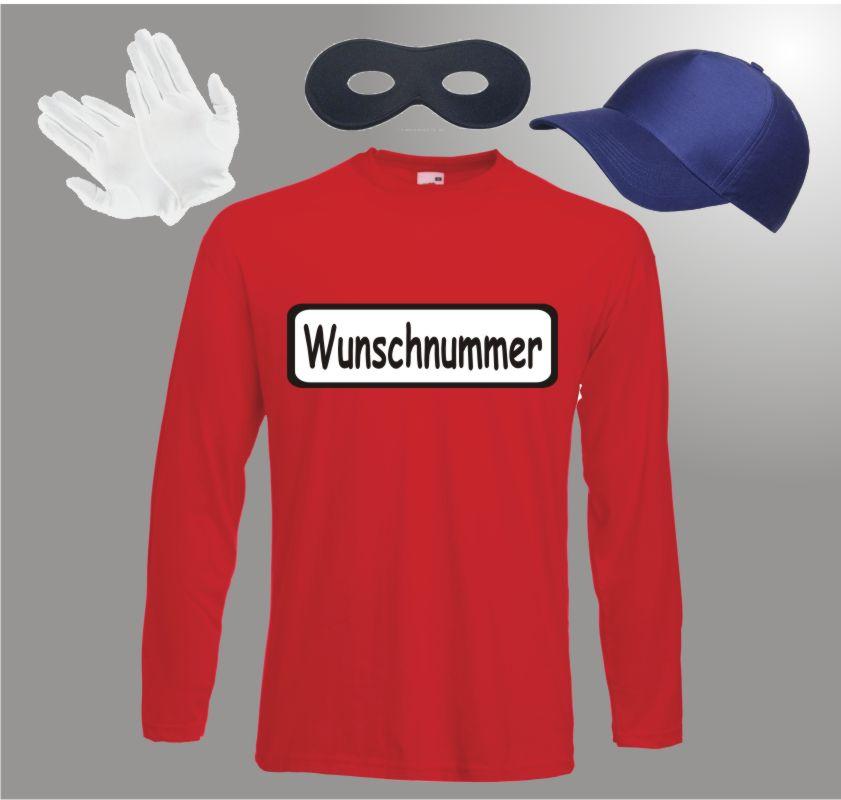 Für Panzerknacker Kostüm Fans Langarm Faschingkostüm Straßenkarneval