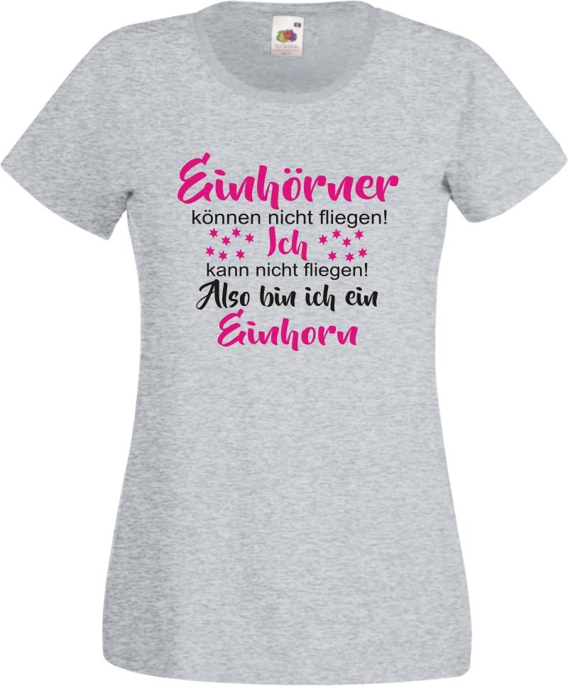 Einhorn Shirt Einhörner können nicht fliegen Fun T Shirt einhorn Spruch Damen