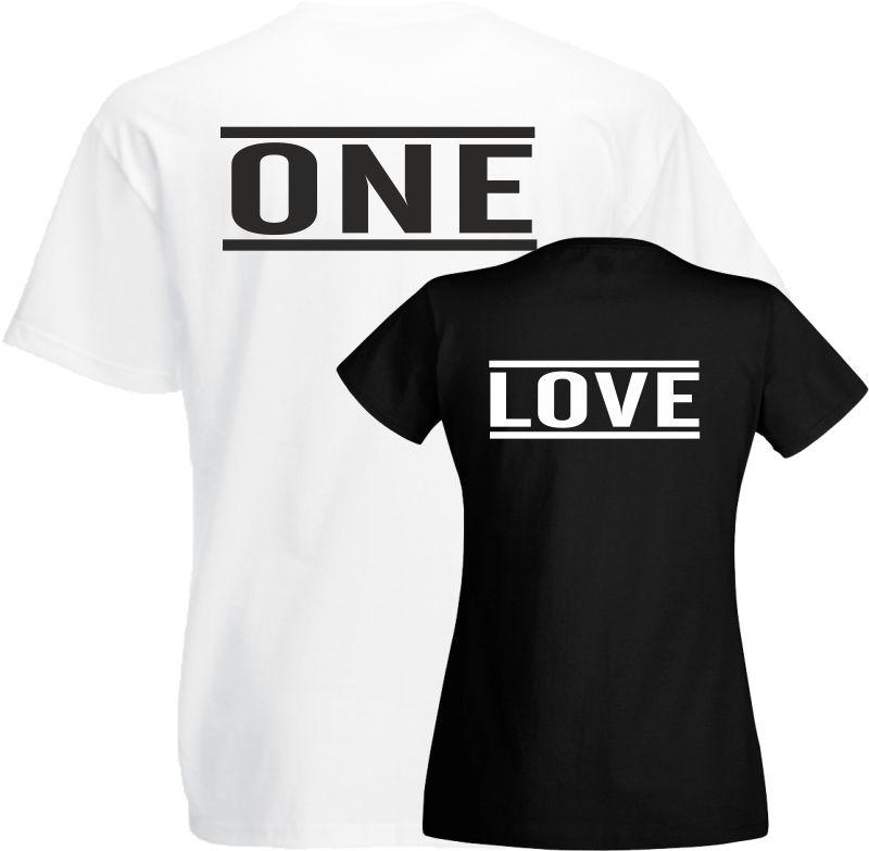 One Love Paar T Shirts Pärchen Shirts Geschenk Hochzeit Geburtstag Silberhochzei