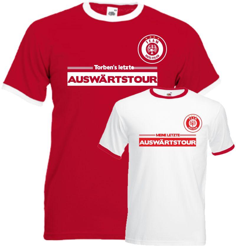 Fussball JGA T-Shirt letzte Auswärtstour Mannschaft Team Shirt Club Hochzeit
